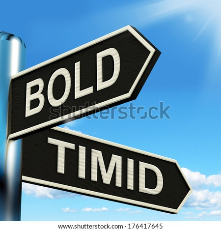 Bold and Timid Signpost