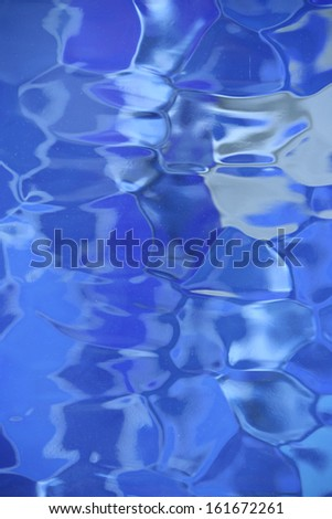 bold blue stained glass background
