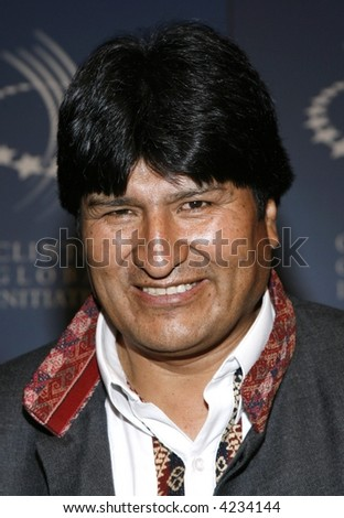Bolivia's President Evo Morales - stock photo