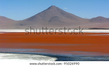 Bolivia Uyuni landscape - stock photo