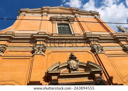 Bologna Cathedral - Duomo San Pietro. Italy - stock photo