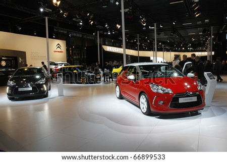 BOLOGNA ITALY-DEC 4: Bologna Motor Show citroen ds3 . on December 04, 2010 in Bologna Italy - stock photo