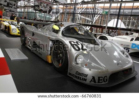 BOLOGNA - ITALY-DEC 4: Bologna Motor Show, Mercedes racing on December 04, 2010 in Bologna Italy - stock photo