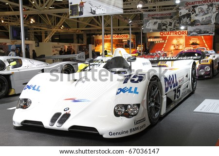 BOLOGNA, ITALY - DECEMBER 4: Bologna Motor Show bmw racing. on December 04, 2010 in Bologna Italy - stock photo