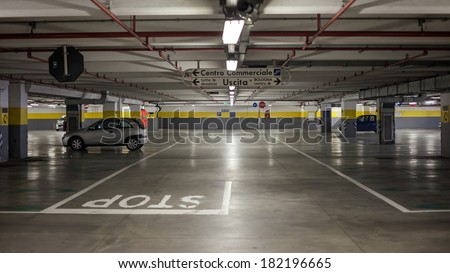 "BOLOGNA, ITALY - March 16, 2014: The mall ""Blades"" is the 3rd largest of Bologna. One of the 10 largest shopping malls in Italy. The first to bologna with underground parking."