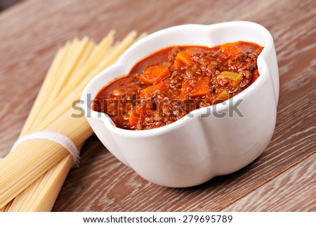 Bolognese sauce - stock photo