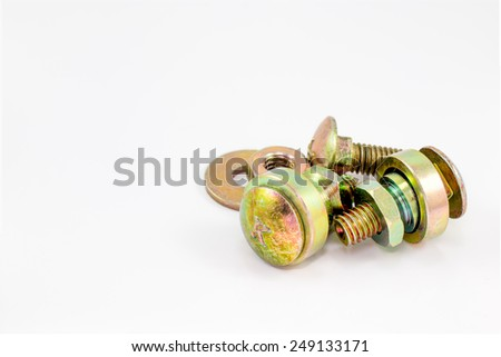 bolt and nut isolated on white background