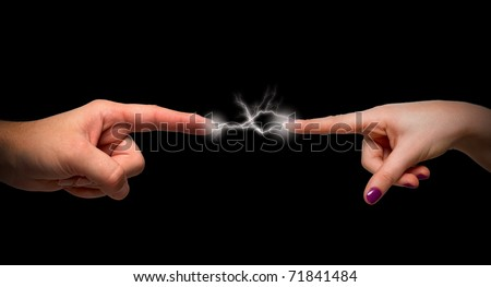 Bolt touch - stock photo
