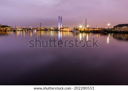 Bolte Bridge, Western link, West gate Freeway - Docklands Highway, Melbourne, Australia - stock photo