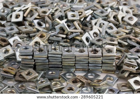 bolts, nuts, screws - stock photo