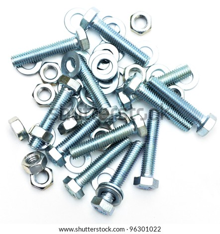 bolts screws washers - stock photo