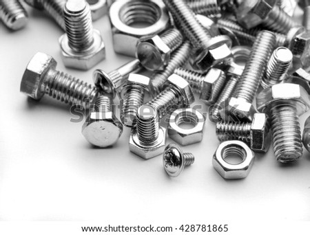 bolts various dimensions - stock photo