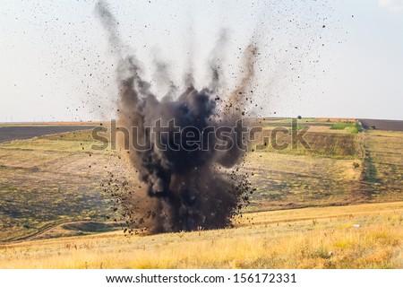 bomb explosion - stock photo