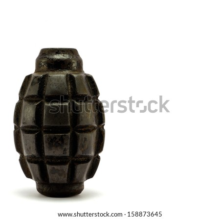 bomb on a white background - stock photo