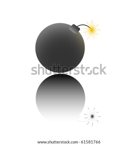 Bomb, vector illustration