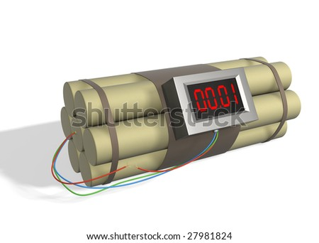Bomb with the broken off wire - stock photo