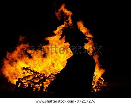 Bon Fire - stock photo