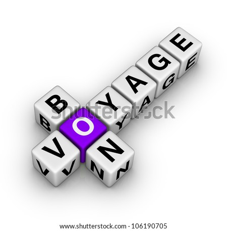bon voyage (cubes crossword series) - stock photo