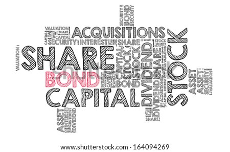 Bond in word cloud - stock photo