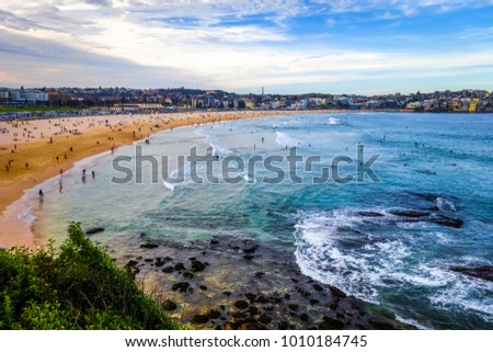 Bondi Beach and seascape view, Sidney, Australia