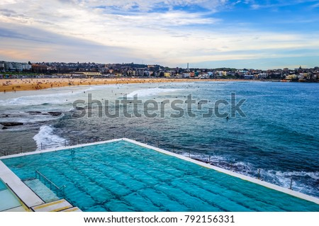 Bondi Beach landscape and swimming pool, Sidney, Australia