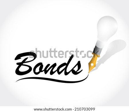 bonds message illustration design over a white background - stock photo