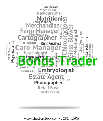 Bonds Trader Indicating Traders Indentures And Selling