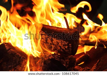 Bonfire and flames - stock photo