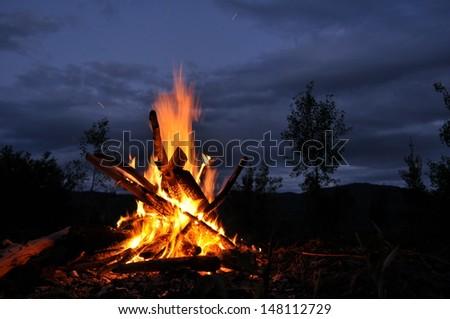 Bonfire, campfire - stock photo
