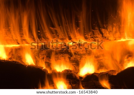 Bonfire. Fiery abstraction. Background. Texture.