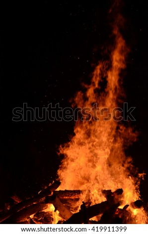Bonfire! Huge one! - stock photo