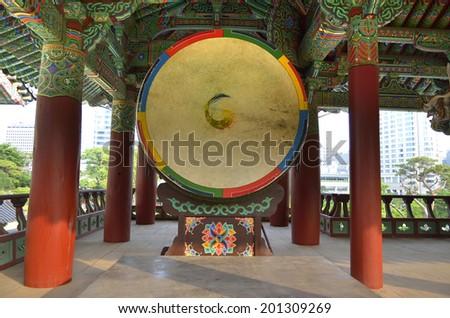 Bongeunsa Buddhist Temple in Seoul, South Korea  - stock photo