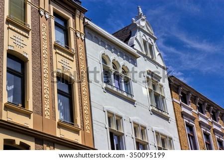 Bonn Art Nouveau buildings - stock photo