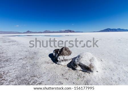 Bonneville Salt Flats - stock photo
