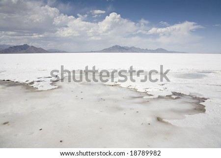 Bonneville Salt Flats, Great Salt Lake Desert, northwestern Utah, United States - stock photo