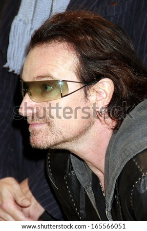 Bono at Anton Corbijn photo exhibition celebrating 22 years of U2, Stellan Holm Gallery, New York, NY, October 09, 2005