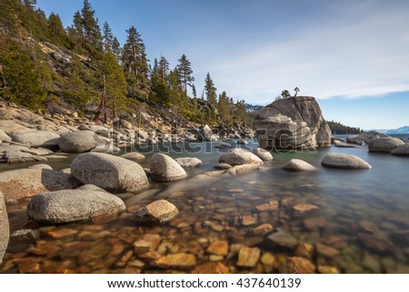 Bonsai Rock at Lake Tahoe! - stock photo