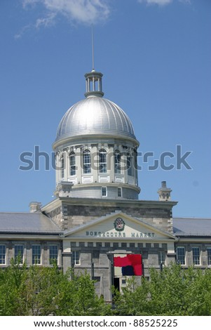Bonsecours Market in Montreal, Quebec - stock photo