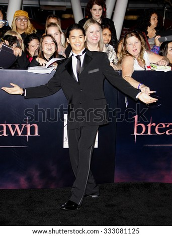 BooBoo Stewart at the Los Angeles premiere of 'The Twilight Saga: Breaking Dawn Part 1' held at the Nokia Theatre L.A. Live in Los Angeles, USA on November 14, 2011.