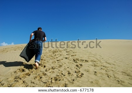 boogie boarding - stock photo
