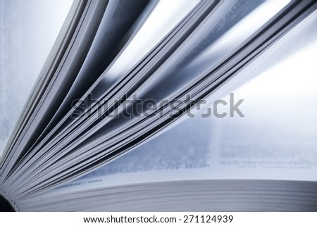 Book, abstract, document. - stock photo