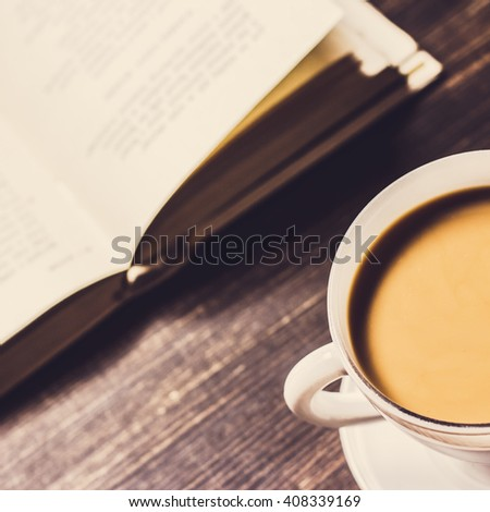 Book And Coffee Cup./Book And Coffee Cup - stock photo