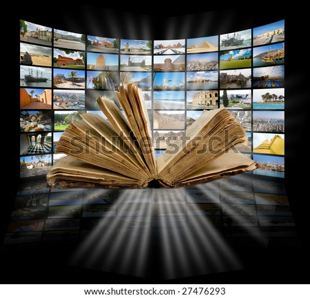 Book and education production concept - stock photo