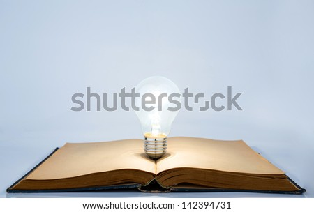 Book and light bulb - stock photo