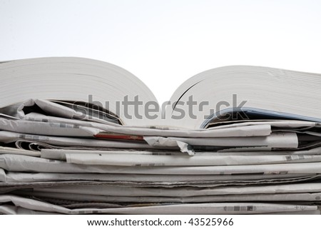 book and newspaper