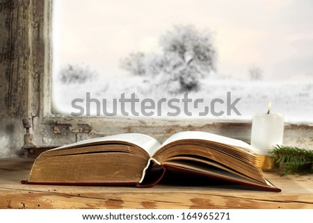book and window  - stock photo