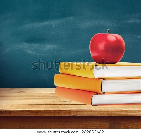 Book, Apple, Education.