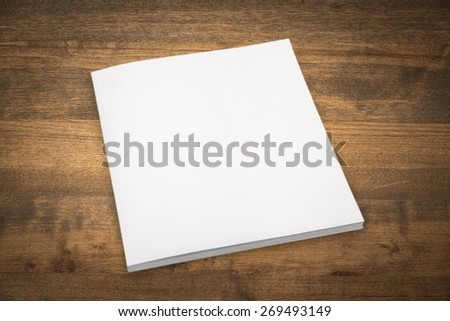 Book. Blank book cover white - stock photo
