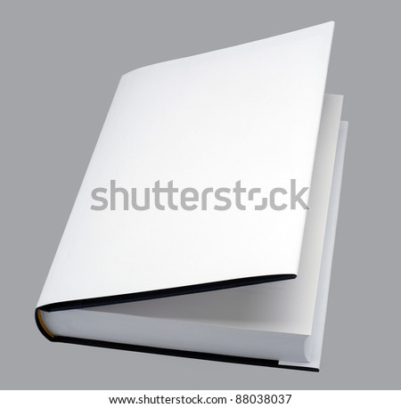 Book - Blank book open with white cover - stock photo