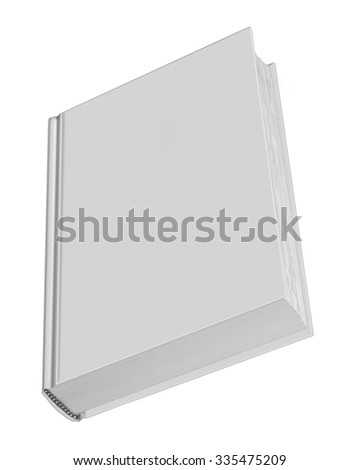 Book, blank book with grey cover and rough pages - stock photo